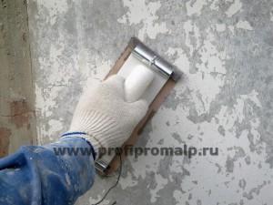 Очистка фасада от краски